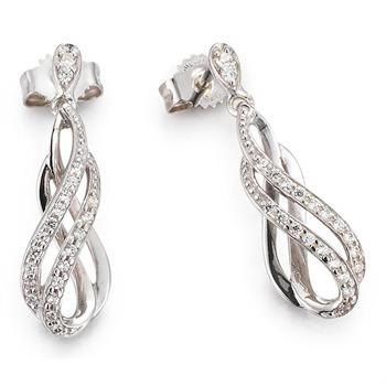 CORE Damen Ohrhänger aus Silber mit Zirkonia
