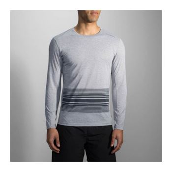 Brooks Distance Long Sleeve Running Grau F095