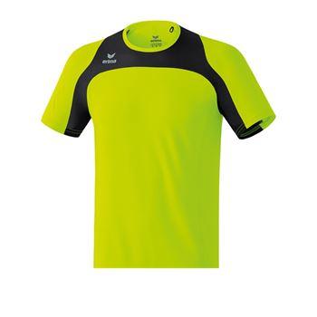 Erima Race Line Running T-Shirt Gelb Schwarz