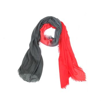 Abstract Cashmere Schal Stole Red 70 x 190 cm
