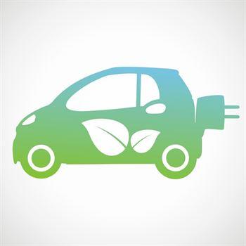 1 Aufkleber Ökostromauto für Autoscheibe