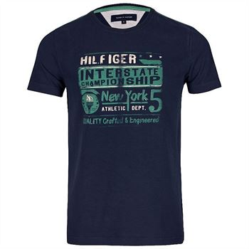 Tommy Hilfiger Herren T-Shirt Interstate Tee Blau